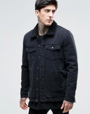Dr Denim Куртка на подкладке борг Ior. Цвет: черный