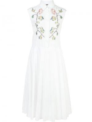 Платье-рубашка без рукавов Adam Lippes. Цвет: белый