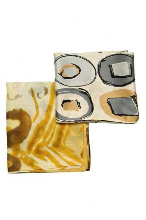 Набор шарфов 2 шт. Frantelli. Цвет: желтый, серый