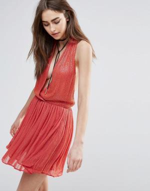 Raga Платье мини с декоративной отделкой Be Mine. Цвет: оранжевый