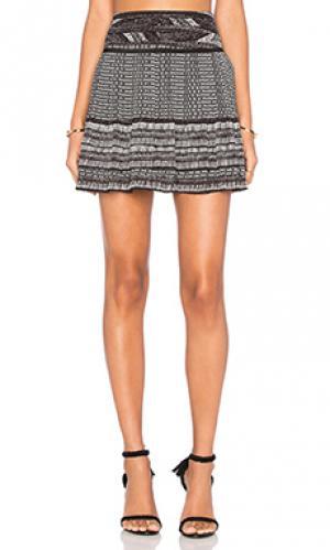 Короткая плиссированная юбка Twelfth Street By Cynthia Vincent. Цвет: черный