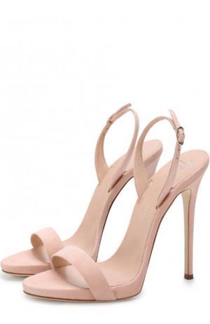Замшевые босоножки Sophie на шпильке Giuseppe Zanotti Design. Цвет: светло-розовый