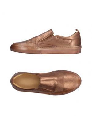 Низкие кеды и кроссовки SARTORI GOLD. Цвет: медный