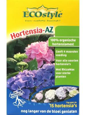 Натуральное органическое удобрение Hortensia-AZ для любых сортов гортензий, 1кг на 10 кв. м ECOstyle. Цвет: желтый, зеленый