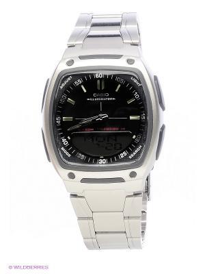 Часы Casio AW-81D-1A. Цвет: серебристый, черный