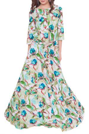 Платье Olivegrey. Цвет: бело-зеленый
