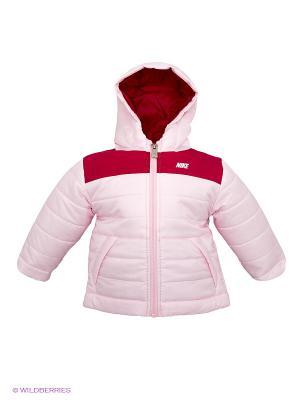Куртка NIKE ALLIANCE PADDED HOODED JK. Цвет: бледно-розовый, малиновый