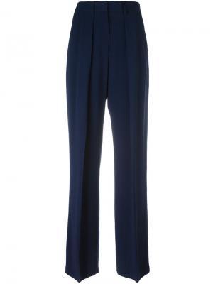 Широкие брюки MSGM. Цвет: синий