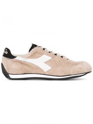 Кроссовки с панельным дизайном и шнуровкой Diadora. Цвет: телесный