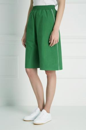 Хлопковые шорты Inshade. Цвет: зеленый