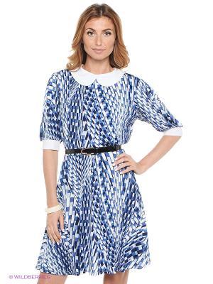 Платье Hammond. Цвет: синий, белый