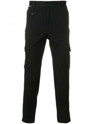 Укороченные брюки карго Dolce & Gabbana. Цвет: чёрный