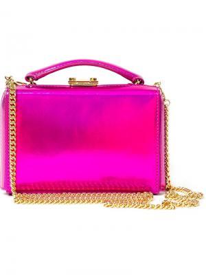 Мини клатч-бокс Grace Mark Cross. Цвет: розовый и фиолетовый