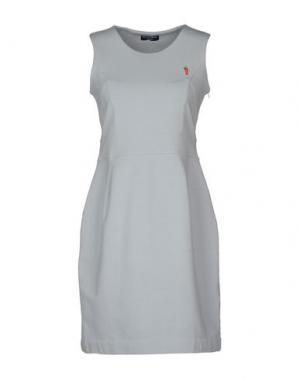 Короткое платье COOPERATIVA PESCATORI POSILLIPO. Цвет: светло-серый
