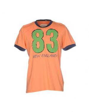 Футболка NEW ENGLAND. Цвет: оранжевый