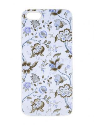 Чехол для iPhone 5/5s Голубой пейсли Арт. IP5-224 Chocopony. Цвет: белый, хаки, голубой, лиловый