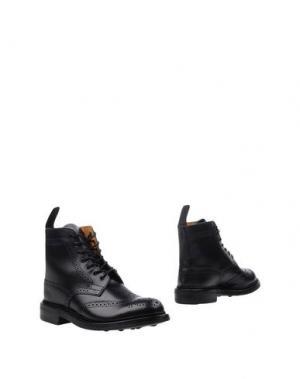 Полусапоги и высокие ботинки TRICKER'S. Цвет: черный