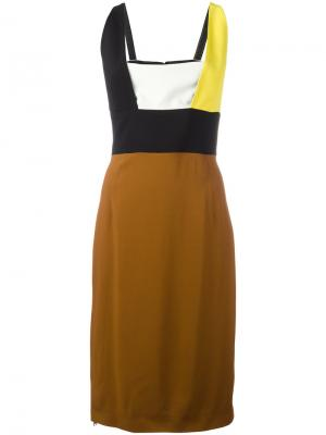 Colour block dress Fausto Puglisi. Цвет: чёрный