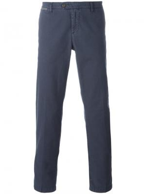 Зауженные брюки Eleventy. Цвет: синий