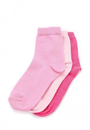 Комплект носков 3 пары Modis. Цвет: розовый