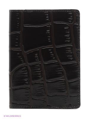 Обложка для автодокументов A.Valentino. Цвет: темно-коричневый