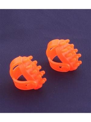 Универсальный массажер Волшебные-пальчики, оранжевый Радужки. Цвет: оранжевый