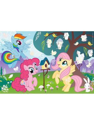 Пазл 35  дет. плюс стикеры - Пони и птичье дерево Trefl. Цвет: розовый