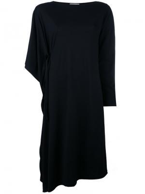 Асимметричное платье шифт Tsumori Chisato. Цвет: чёрный
