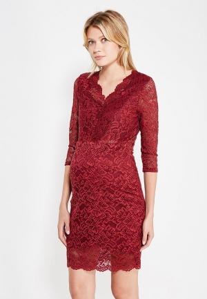 Платье Mamalicious. Цвет: бордовый