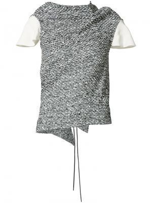 Draped neck blouse Roland Mouret. Цвет: серый