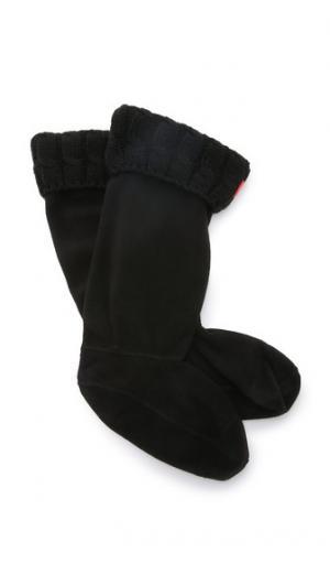 Носки под ботинки с отделкой косичками из шести петель Hunter Boots. Цвет: голубой