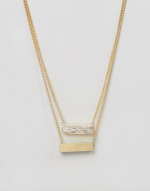 Made Двойное ожерелье с планками. Цвет: золотой