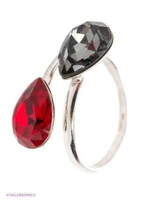 Кольцо NAVELL. Цвет: красный, серый