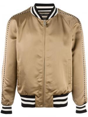 Куртка-бомбер с полосатой окантовкой Marc Jacobs. Цвет: телесный