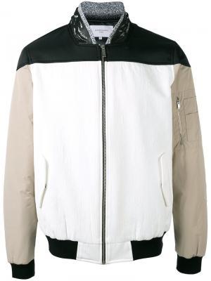 Куртка-бомбер на молнии Les Benjamins. Цвет: белый