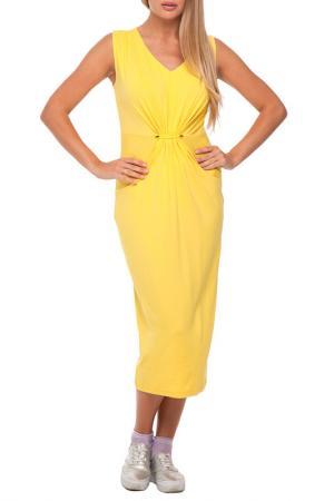 Платье Gloss. Цвет: желтый