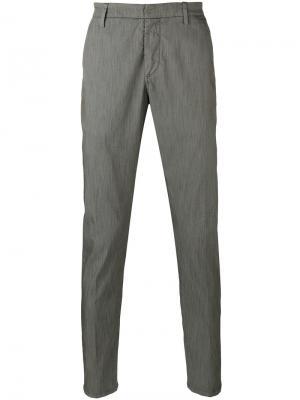 Классические брюки Dondup. Цвет: зелёный