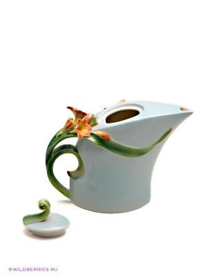 Заварочный чайник Кливия Pavone. Цвет: светло-зеленый, оранжевый, зеленый