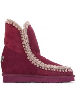 Зимние ботинки Eskimo Mou. Цвет: красный