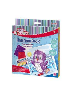 Чудо -Творчество. Мозаика самоклеющаяся Пингвиненок. Чудо-творчество. Цвет: фиолетовый, белый, голубой