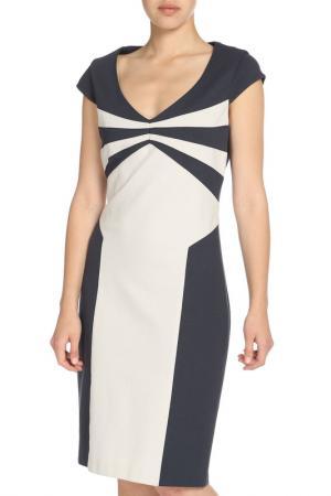 Платье-миди с декольте Apanage. Цвет: мультиколор