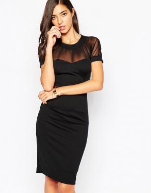 Little Black Dress Платье с полупрозрачными вставками. Цвет: черный