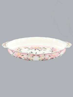 Блюдо Орхидея на розовом Elan Gallery. Цвет: розовый, белый