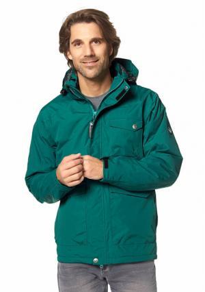 Куртка POLARINO. Цвет: темно-зеленый, темно-синий