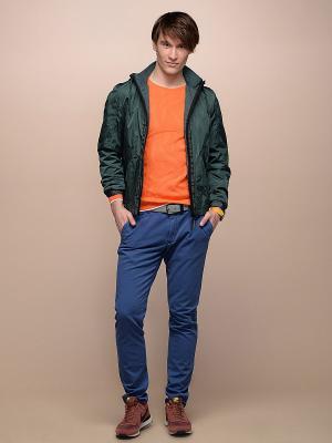 Джемпер LUIGI FERRO. Цвет: оранжевый, белый