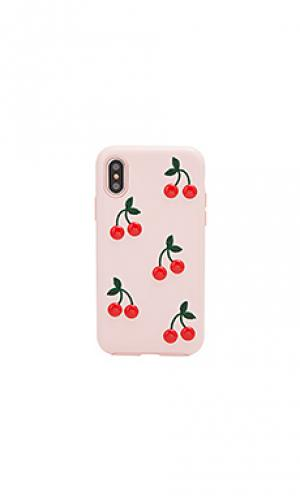 Чехол для телефона patent cherry Sonix. Цвет: румянец