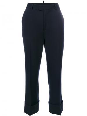 Укороченные строгие брюки Dsquared2. Цвет: синий