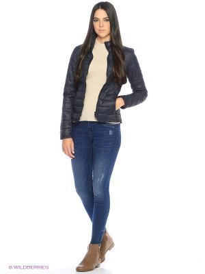 Куртка ONLY. Цвет: темно-синий