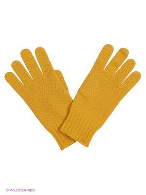 Перчатки United Colors of Benetton. Цвет: горчичный