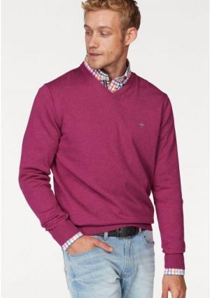 Пуловер. Цвет: коричневый, темно-синий, ярко-розовый